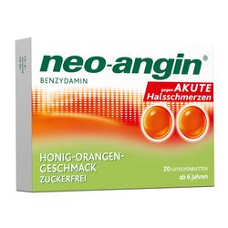 neo-angin HONIG-ORANGEN-GESCHMACK ZUCKERFREI