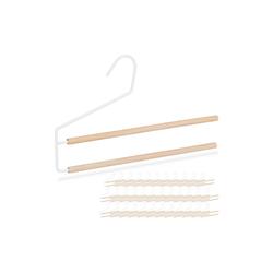 relaxdays Kleiderbügel 36 x Hosenbügel platzsparend weiß