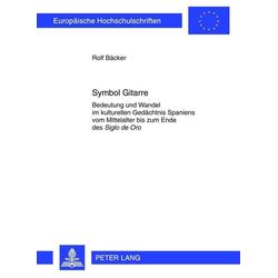Symbol Gitarre als Buch von Rolf Bäcker