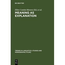 Meaning as Explanation als Buch von
