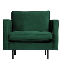 Einzelsessel in Grün Samt Retrostil