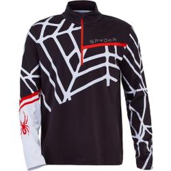 Spyder - Vital Zip T-Neck Black White - Fleece - Größe: L