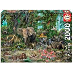 Carletto Puzzle Educa - Dschungel 2000 Teile Puzzle, Puzzleteile