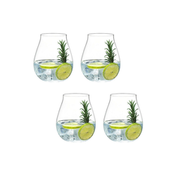 RIEDEL Glas Glas O Gin Set 4 teilig, Kristallglas