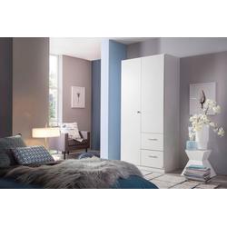 rauch BLUE Drehtürenschrank Buchholz weiß 90 cm x 197 cm x 54 cm