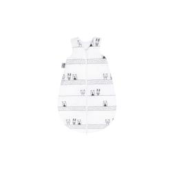 Julius Zoellner Schlafsack in weiß mit Muster Grobies, Größe 50