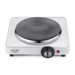 Adler Einzelkochplatte AD 6503, 1500W, 185 mm, Kochfeld, Mini-Kochplatte, Tisch-Kochplatte, Herd, Platte,Thermostat, Temperaturregelung, Camping, weiß