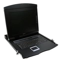 LogiLink Professional 19 LCD KVM Konsole mit 17 TFT Monitor und Tastatur (DE)