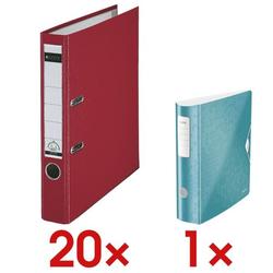 20x Ordner »1015« inkl. Ordner »180° Active WOW 1106« rot, Leitz, 5.2x31.8x28.5 cm