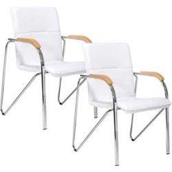 Besucherstuhl-Set, 2-tlg. Samba Weiß