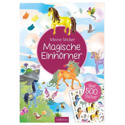 Meine Sticker: Magische Einhörner als Buch von