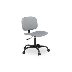 relaxdays Schreibtischstuhl Schreibtischstuhl grau mit Rollen