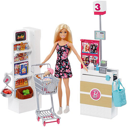 Barbie Supermarkt und Puppe