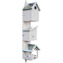 HABAU Vogelhaus Triple, BxTxH: 21x18x76 cm weiß