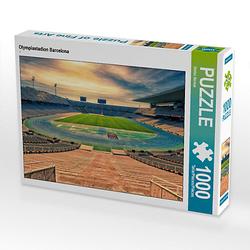 Olympiastadion Barcelona Lege-Größe 64 x 48 cm Foto-Puzzle Bild von Stefan Becker Puzzle