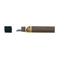 Pentel Bleistiftmine Super Hi-Polymer Bleistiftmine 300 0,3 mm HB 12 Stück Schwarz