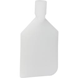 Vikan Rührlöffelblatt, 220 mm, Schaber für das Entleeren von Behältern und Töpfen, Material: Polyethylen, weiß