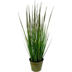 Kunstpflanze Bambusgras im Metalltopf Bambusgras, I.GE.A., Höhe 78 cm