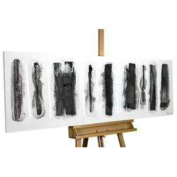 KUNSTLOFT Gemälde Fährten im Schnee, handgemaltes Bild auf Leinwand