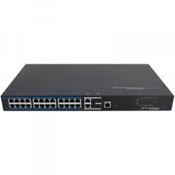 24x PoE Netzwerk Switch, 2x Gigabit Uplink-Ports, 380W, CCTV-Modus