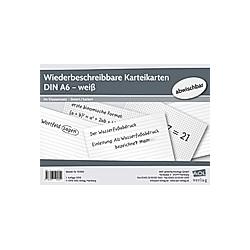 Wiederbeschreibbare Karteikarten DIN A6 - weiß - Buch