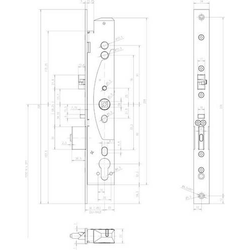 Assa Abloy effeff Mediator Schloss 609-102PZ 1