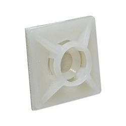 Klebesockel 19 x 19 mm für Kabelbinder bis 3,6 mm - Farbe natur - Beutel 100 Stück
