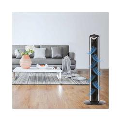 Bestlivings Bodenventilator, 82cm, Geräuscharm - Ideal fürs Schlafzimmer, Säulenventilator mit Oszillation, 45 Watt schwarz