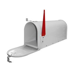 Amerikanischer Briefkasten / American Mailbox aus Stahl in weiß