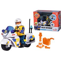 SIMBA Spielzeug-Motorrad Feuerwehrmann Sam, Polizei Motorrad mit Figur