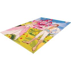 Obsession Kinderteppich My Juno 473, rechteckig, 10 mm Höhe, Spielteppich, Prinzessinnen Motiv rosa Kinder Bunte Kinderteppiche Teppiche