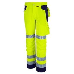 QUALITEX® unisex Warnschutzhose   gelb Größe 58