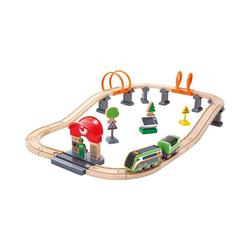 Hape Spielzeugeisenbahn-Set Eisenbahn-Set Nacht-Rundfahrt mit Solar-Lok