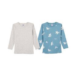 Petit Bateau Unterhemd Unterhemden Doppelpack langärmlig für Jungen 116