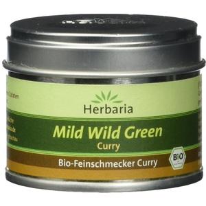 Herbaria Mild Wild Green Curry 25 g kbA* S-Dose, 1er Pack (1 x 25 g) - Bio
