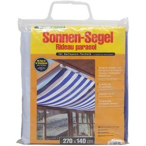 Windhager Sonnensegel für Seilspanntechnik, Blau/ Weiß, 270 x 140 cm