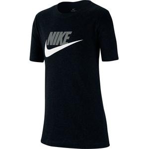 NIKE Sportswear Baumwoll Kinder T-Shirt black/lt smoke grey S (128-137 cm)