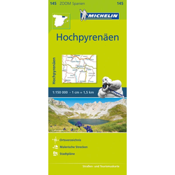 Michelin Zoomkarte Hochpyrenäen 1 : 150 000 - Straßenkarten