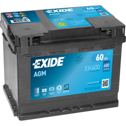 Exide EK600 AGM-Batterie 60Ah