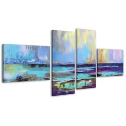 YS-Art Gemälde Azurblaues Scheinen 037