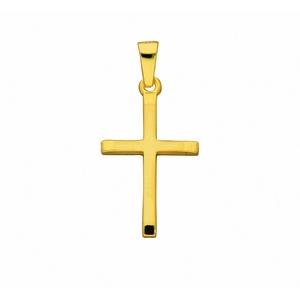 Adelia´s Kette mit Anhänger 585 Gold Kreuz Anhänger - Set mit Halskette, 585 Gold Goldschmuck für Damen & Herren