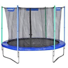 Hudora Fun 300 cm inkl. Sicherheitsnetz blau/grün/schwarz