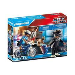 Playmobil® Spielfigur PLAYMOBIL® 70573 Polizei-Fahrrad: Verfolgung des
