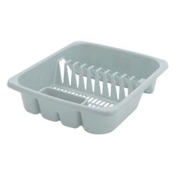 Gies giesline Geschirrkorb klein, hellgrau, Geschirraufbewahrungskorb geeignet für die Spülmaschine, Maße (L x B x H): 38 x 33 x 9 cm