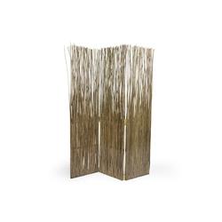 Homestyle4u Paravent, Weidenparavent 120 x 170 cm grau
