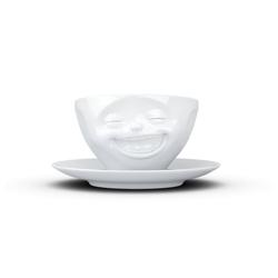 FIFTYEIGHT PRODUCTS Tasse Kaffeetasse Lachend weiß 200 ml