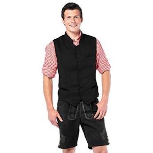 Tannhäuser 7262189 Deluxe Trachtenweste, Schwarz, M