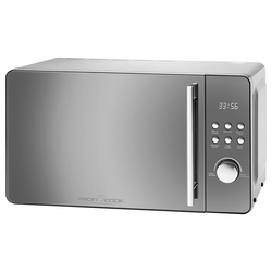 ProfiCook Mikrowelle PC-MWG 1175, Mikrowelle Grill, Microwelle Microwave 20L 1000 W silberfarben