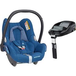 Babyschale Cabriofix, Essential Blue inkl. Basis FamilyFix blau Gr. 0-13 kg