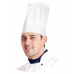 Kochmütze aus Papier, weiß, 10 Stk.